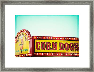 Corn Dogs Framed Print by Kim Fearheiley