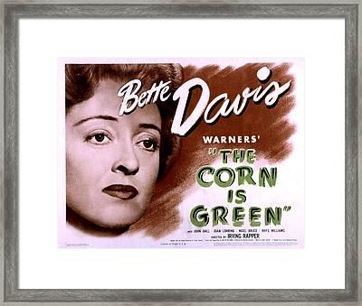 Corn Is Green, The, Bette Davis, 1945 Framed Print