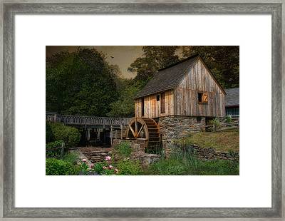 Corn Meal Mill Framed Print by Robin-Lee Vieira