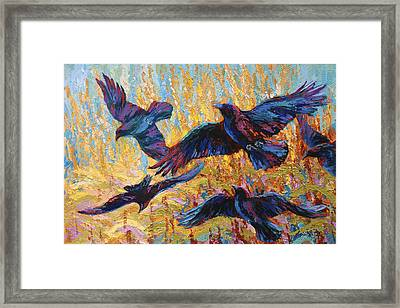 Corn Tag Framed Print by Marion Rose