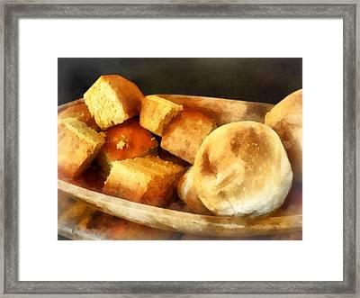 Cornbread And Rolls Framed Print