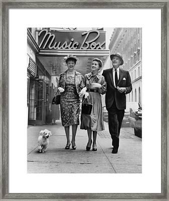 Cornelia Otis Skinner, Dolores Hart Framed Print by Everett