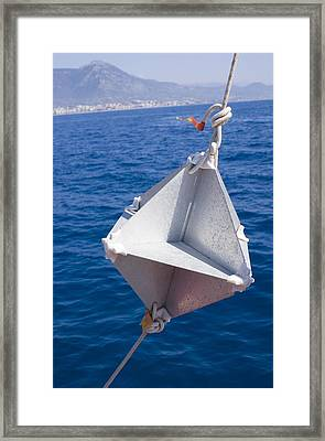 Corner-cube Radar Reflector On A Boat. Framed Print by Mark Williamson