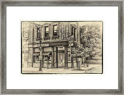 Corner Drug Store Framed Print