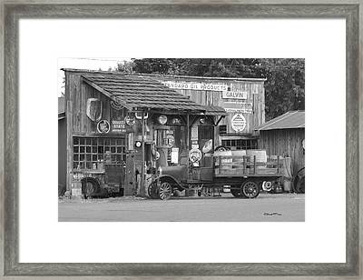 Corner Gas Station Framed Print by Ansel Price