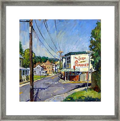 Corner Market Framed Print
