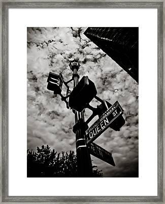 Corner Of Queen Framed Print by Jessica Brawley