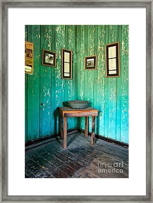 Corner Of Slave Cabin At San Francisco Plantation Framed Print by Kathleen K Parker