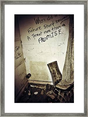 Corner Of Threat  Framed Print