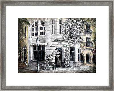 Corner Tea Framed Print