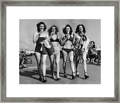 Cornet Quartet Framed Print