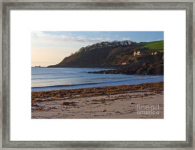 Cornish Seascape Meanporth Framed Print