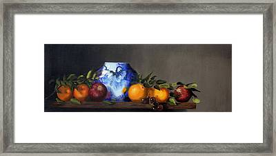 Framed Print featuring the painting Cornucopia by Barry Williamson
