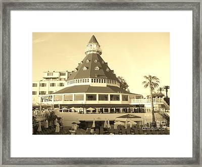 Framed Print featuring the photograph Coronado Hotel by Jasna Gopic