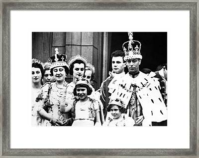 Coronation Of King George Vi Front Row Framed Print by Everett