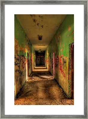 Corridor Of Shadows Framed Print by Heather  Boyd
