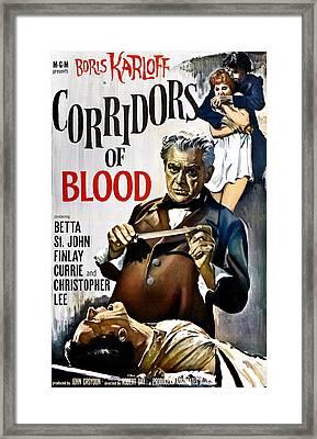 Corridors Of Blood, Boris Karloff, 1958 Framed Print by Everett