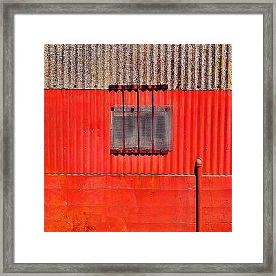 Corrugated Framed Print