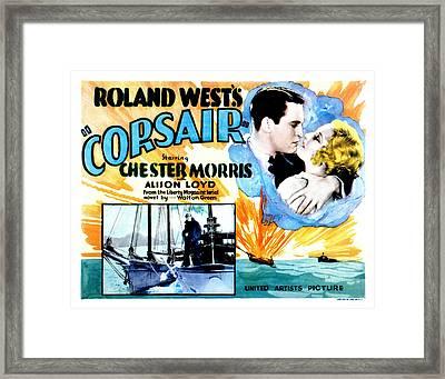 Corsair, Chester Morris, Thelma Todd Framed Print by Everett