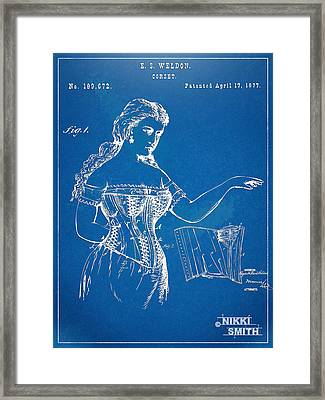Corset Patent Series 1877 Framed Print by Nikki Marie Smith