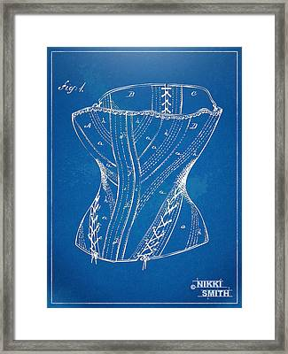 Corset Patent Series 1884 Framed Print by Nikki Marie Smith