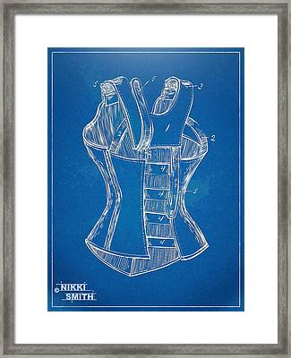 Corset Patent Series 1894 Framed Print by Nikki Marie Smith