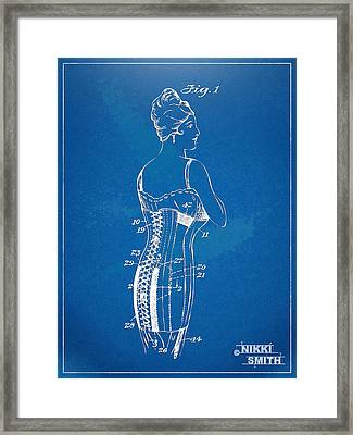 Corset Patent Series 1924 Framed Print by Nikki Marie Smith