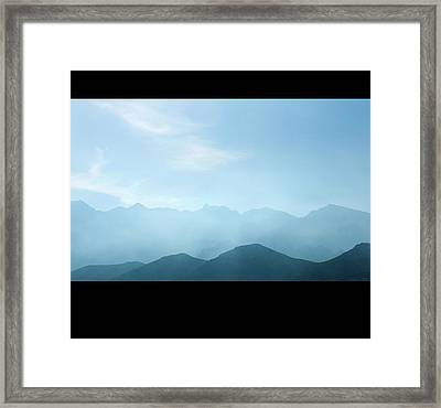 Corsica Mountains Framed Print by Cheminsnumeriques