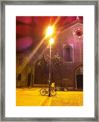 Corso Como By Night Framed Print by Andreia Gomes