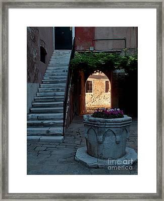 Corte Della Comare Framed Print by Heiko Koehrer-Wagner