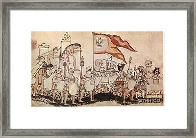 Cortez Entering Mexico 1519 Framed Print by Photo Researchers