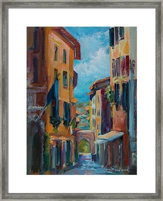 Cortona - Early Morning Framed Print