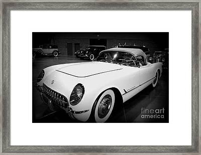 Corvette 55 Convertible Framed Print
