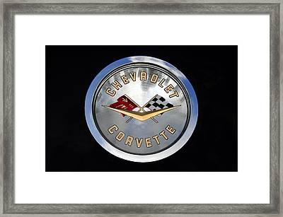 Corvette Name Plate Framed Print