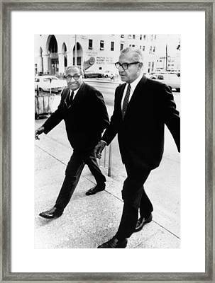 Cosa Nostra Chieftains Appeared Framed Print by Everett