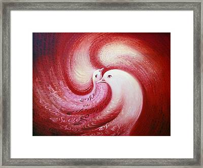 Cosmic Birds Of Swastika Framed Print by S Jaswant