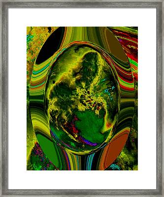 Cosmic Egg - Emerald Framed Print by Colleen Cannon