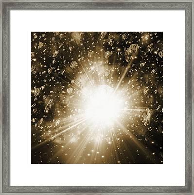 Cosmic Explosion, Computer Artwork Framed Print