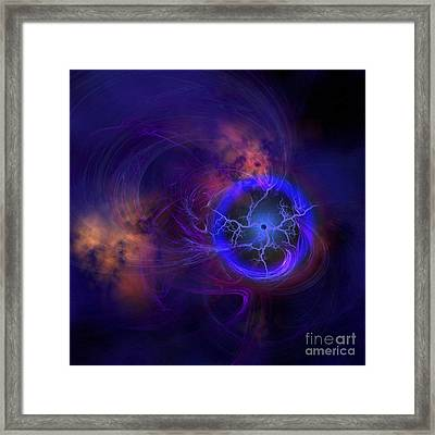 Cosmic Forces Out In Space Framed Print by Corey Ford