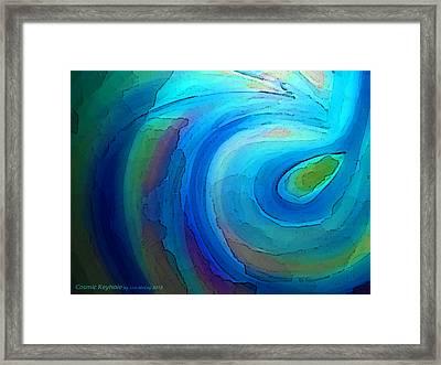Cosmic Keyhole Framed Print by AnneLise McCoy
