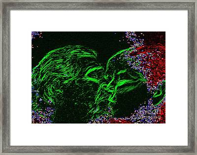 Cosmic Kiss Framed Print