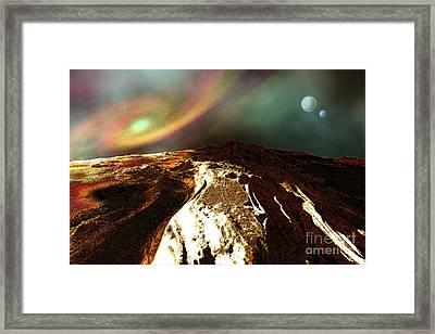 Cosmic Landscape Of An Alien Planet Framed Print by Corey Ford