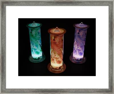 Cosmic Light Tubes 2 Framed Print by Colleen Cannon