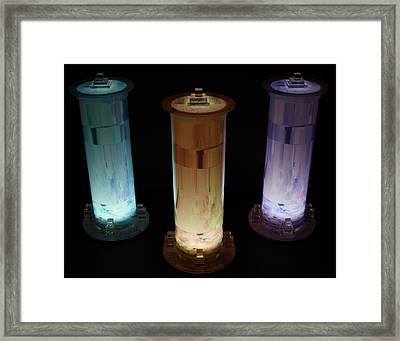 Cosmic Light Tubes 3 Framed Print by Colleen Cannon