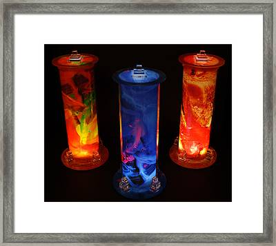 Cosmic Light Tubes Framed Print by Colleen Cannon