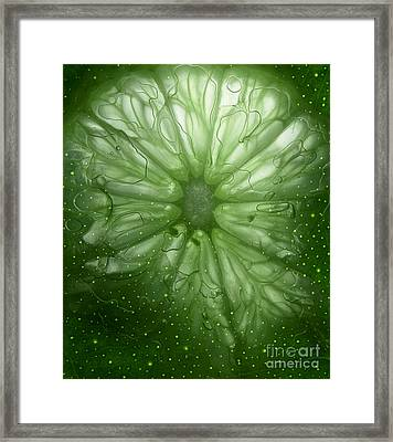 Cosmic Lime Framed Print