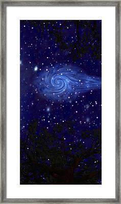 Cosmic Messenger Framed Print by Diana Morningstar