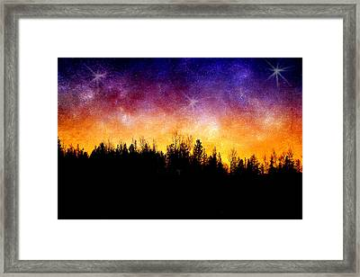 Cosmic Night Framed Print