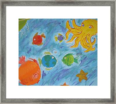 Cosmic Ocean Framed Print by Yshua The Painter