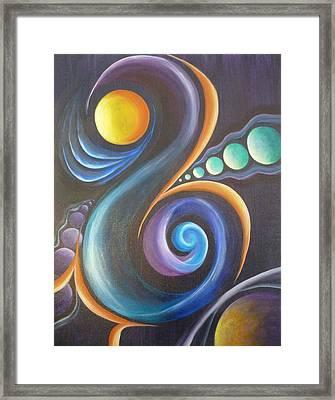 Cosmic  Framed Print by Reina Cottier